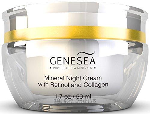 Genesea hidratante crema de noche Mineral con 3% Retinol y colágeno - aminoácidos con libertad de tiempo y tecnología de antioxidantes - Premium Dead Sea producto cosmético - Paraben libre