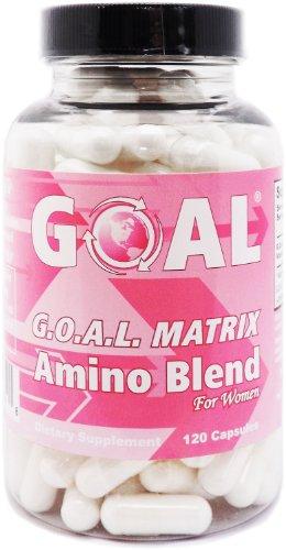 OBJETIVO Naturals - G.O.A.L. matriz aminoácidos complejo píldoras para mujeres 120 cápsulas fáciles de tragar - alta potencia L-glicina L-ornitina L-arginina L-lisina combinación mezcla de Anti-Aging - mejores tabletas de suplemento de NO2 - óxido nítrico