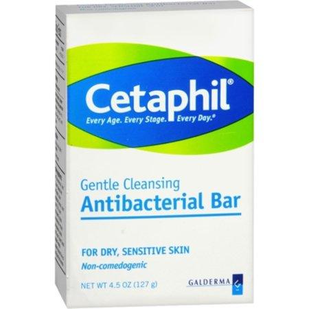 Cetaphil antibacterial suave Barra de limpieza para Piel Seca - Sensible 450 oz (Pack de 3)