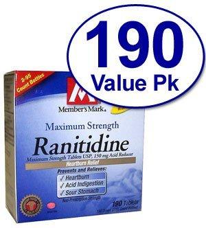 Simplemente derecha ranitidina, antiácido 150 Mg 190 tabletas cuenta - en comparación con Zantac 150
