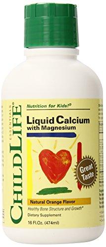 Niño vida calcio/magnesio líquido, sabor naranja Natural, 2-paquete de 16 oz