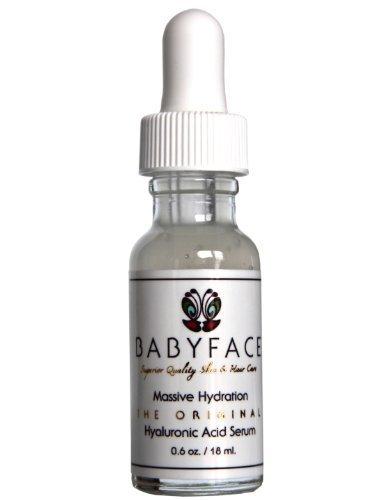 Babyface hidratación masiva ácido hialurónico Serum con vitamina C y Matrixyl 3000.6 oz.