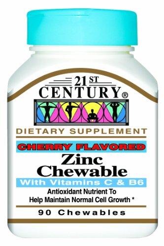 siglo XXI masticar Zinc masticable con C y B6, cereza, cuenta 90