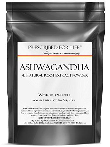 Ashwagandha - 4:1 Natural Extracto de polvo de la raíz (Withania somnifera), 1 lb