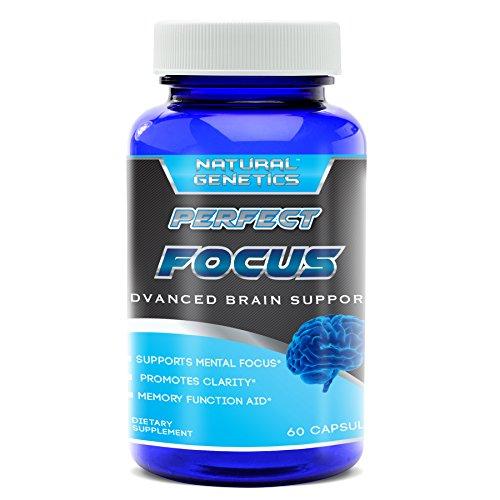 Suplemento de cerebro neuro claridad, enfoque perfecto. Mejor ayuda a la concentración Mental Natural. Fórmula avanzada para promover la función óptima, enfoque, claridad, memoria y mucho más. Ginkgo Biloba hierba de San Juan. 60 porciones.