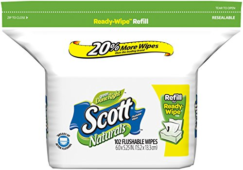 Scott húmedo toallitas Refill, cuenta 102
