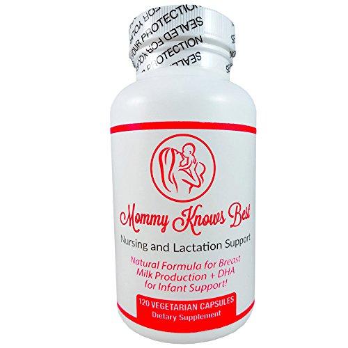 Suplemento de lactancia para mama mayor producción de leche con extracto de alholva, cardo bendito, hinojo semilla y DHA - seguro y eficaz a base de hierbas píldoras de lactancia - 120 cápsulas vegetarianas