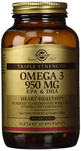 Solgar, Triple fuerza Omega-3 950 mg, 100 cápsulas