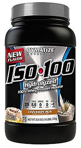 Nutrición de Dymatize 100% hidrolizada de proteína de suero aislar, bollo de canela, 1,6 libras