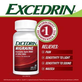 Excedrin migraña dolor analgésico/ayuda - 300 comprimidos recubiertos
