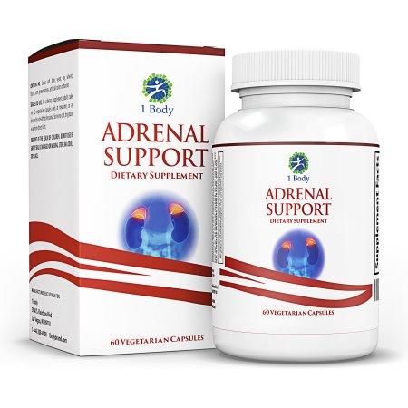 Apoyo Adrenal - (vegetariano) - Una fórmula complejo que contiene vitamina B12, B5, B6, magnesio, extracto de Ginger Root, raíz de astrágalo, Schizandra Berry, regaliz y más - 30 días Suministro
