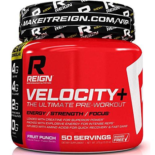 Velocidad + entrenamiento Pre - aumento de la masa muscular, resistencia y energía - calidad fuerza entrenamiento suplemento en polvo con monohidrato de creatina