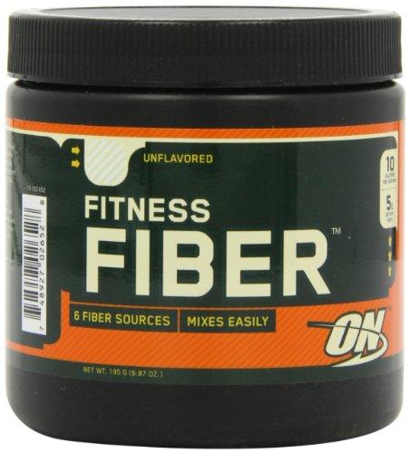 Óptima nutrición Fitness fibra, sin sabor, 6,87 oz tina (paquete de 2)