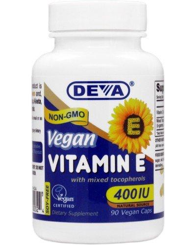 Deva vegana vitaminas naturales vitamina E 400iu con mezcla de tocoferoles, 90-Conde