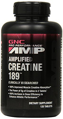GNC Pro Performance AMP Amplified creatina 189 tableta, cuenta 120 por GNC