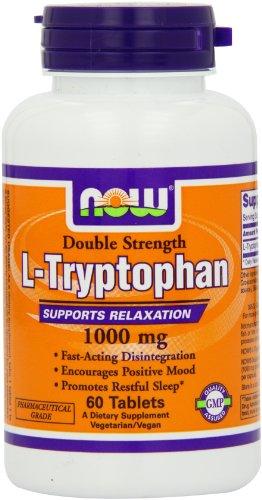 Ahora alimentos L-triptófano 1000mg, comprimidos, 60-Conde
