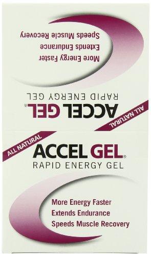Pacífico salud Accel Gel, crema de frambuesa - con 40 mg. cafeína, paquete de 24