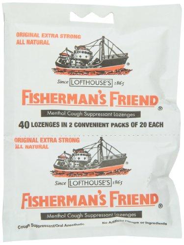Amigo Original Extra fuerte tos Suppressant losanjes del pescador, bolsas de 40-Count (paquete de 12)