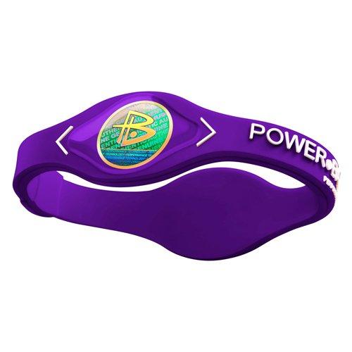 Power Balance Logo blanco silicona pulsera pequeño morado