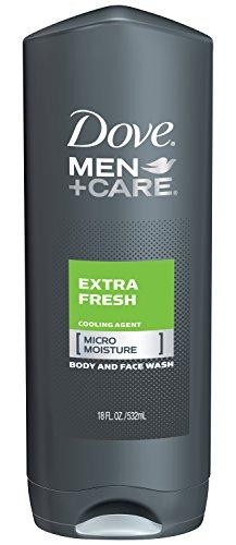Dove Men + cuerpo cuidado y lavado de cara, Extra fresco, 18 onzas (paquete de 3)
