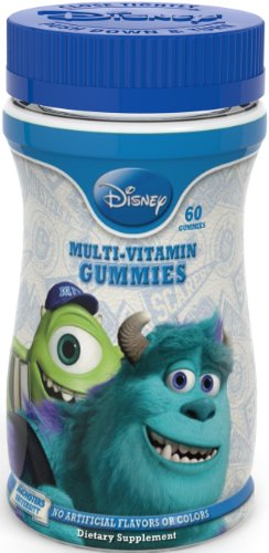 Universidad de monstruos de Disney completa multi-vitamina gomitas, 60Count