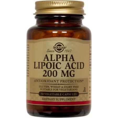 El ácido alfa lipoico 200 mg Solgar 50 VCaps