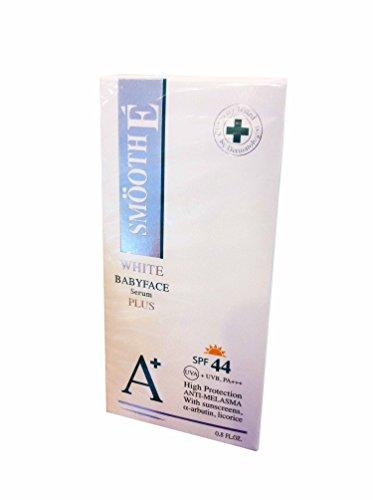 Liso E blanco Babyface suero Plus Spf 44, Anti-melasma, anti-aging + Anti-uva/uvb + blanqueamiento. (0.8 Fl.oz./ Pack)