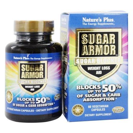 Nature's Plus - Azúcar Azúcar armadura Bloqueador de Ayuda para perder peso - 60 cápsulas vegetales
