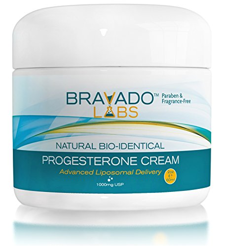 Crema de progesterona natural (Bio-idénticas USP) para la menopausia - mezcla de liposomas - Paraben libre (2oz)