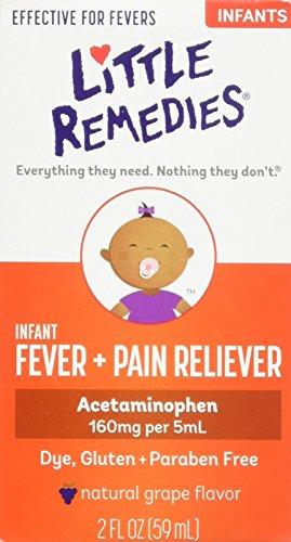 Poco remedios para aliviar el dolor fiebre paracetamol infantil, sabor de la uva, 2 onzas (embalaje puede variar)