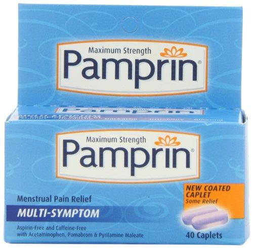 Pamprin máximo fuerza Multi-Symptom Relief Menstrual cápsulas, 40 de cuenta de caja.