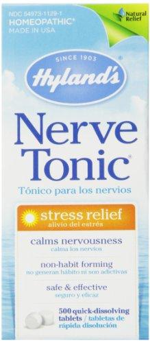 Tabletas de Hyland's nervio tensión tónica alivio, alivio del estrés Natural, cuenta 500