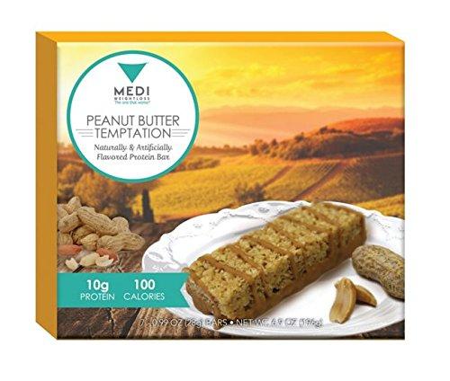 Barras de proteína de Medi-Weightloss maní mantequilla tentación - 100 calorías, 6,9 onzas (caja 7) alta en proteínas - nutricional - para hambre Control durante dieta/perder peso