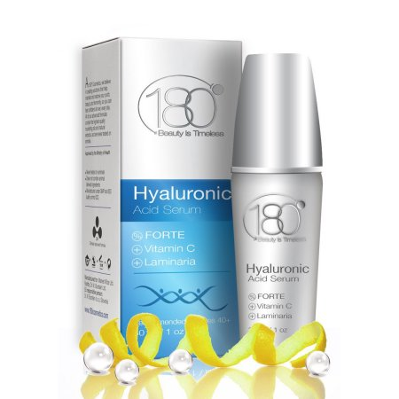 PREMIUM ácido hialurónico y vitamina C en suero por Forte 180 Cosmetics - deshacerse de las arrugas desde el día 1 de más de 40 años de edad, Super Strong Concentrado Anti Aging Suero Con Ácido Hialurónico 1 oz