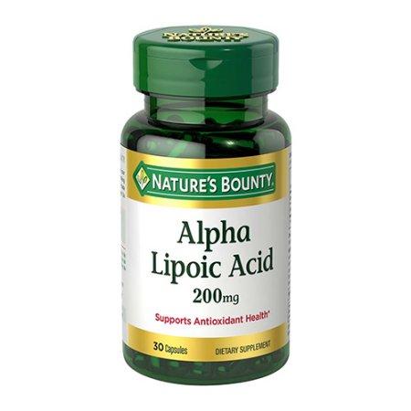 Natures Bounty Alpha Lipoic Acid 200 mg cápsulas - 30 Ea