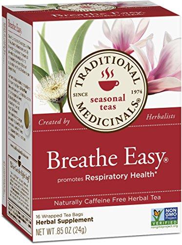 Medicinales tradicionales respiran té fácil, 16 bolsas de té (paquete de 6)