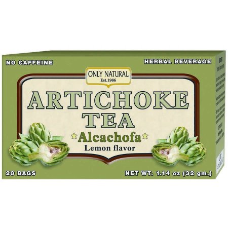 ONLY NATURAL diurético Alcachofa de té, 20 CT