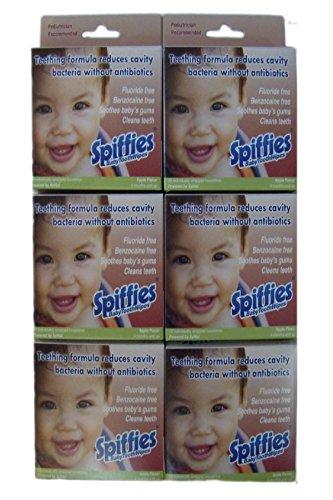 Spiffies ToothWipes, manzana 20 Spiffies, 6 cajas