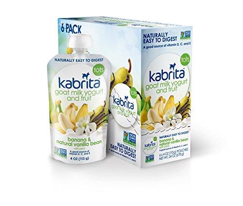 Kabrita cabra leche yogur y fruta - plátano Natural y la vaina de vainilla - 4 oz - 6 pk