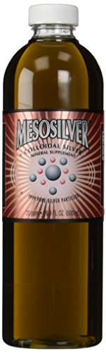 MesoSilver ® plata coloidal de 20 ppm, de 500 mL/16.9 Oz