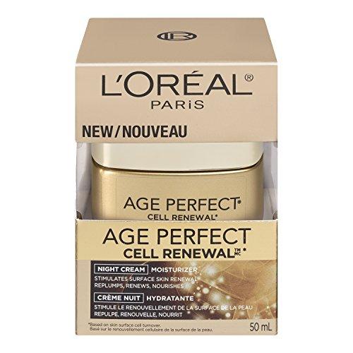 L ' Oreal París edad Cell perfecto crema renovadora de noche, 1,7 onzas