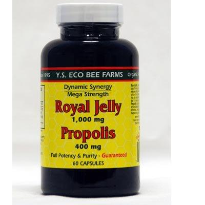 YS Eco abeja granjas jalea real y Propolis - 60 cápsulas