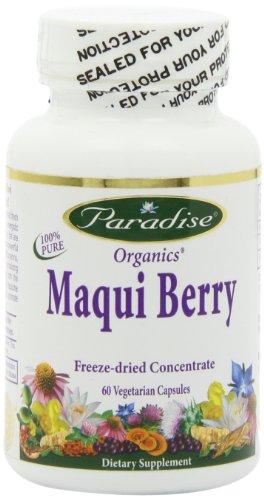 Paraíso hierbas Maqui súper cápsulas vegetarianas, Berry, cuenta 60