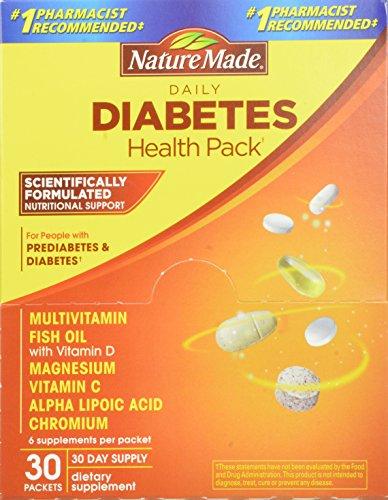 Naturaleza Diabetes Health Pack, 30-cuenta
