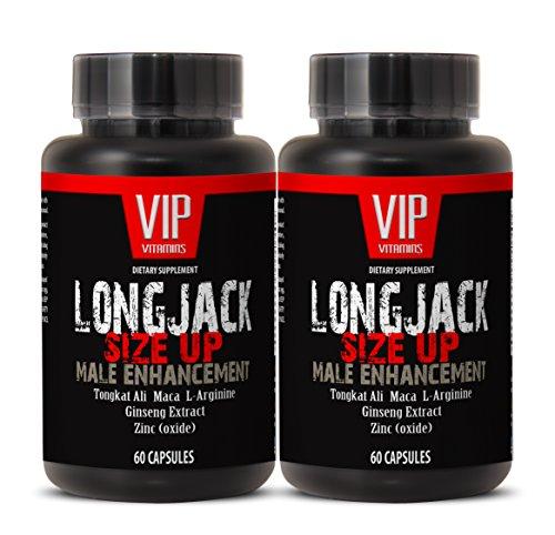 Tamaño de Longjack 2170mg - realce masculino con Maca, Ginseng Tongkat Ali, L-arginina y Zinc - testosterona Natural - Premium calidad (botella 2 120 cápsulas)