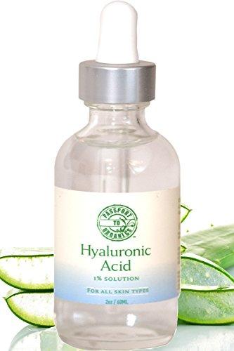 Suero de ácido hialurónico - orgánico y veganos - 100% pura de una solución al 1% 2oz