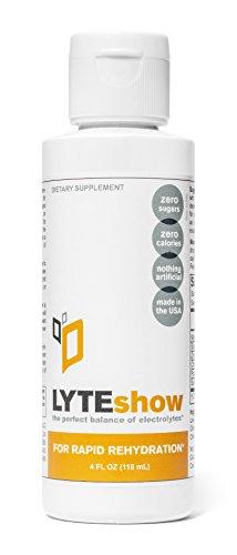 LyteShow - concentrado de electrolitos para rehidratación rápida - 40 porciones (con magnesio, potasio, Zinc)