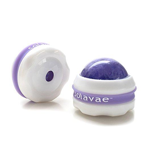 SolavaeTM masaje rodillos juego de pelota de Tools(Purple) de terapia de masaje 2 aceites esenciales masaje y loción