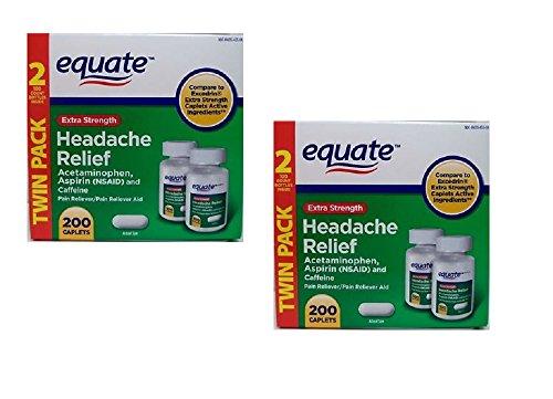 Proporcionan alivio de dolor de cabeza de fuerza Extra 2-Pack (400 pastillas) en comparación con Excedrin Extra Strength