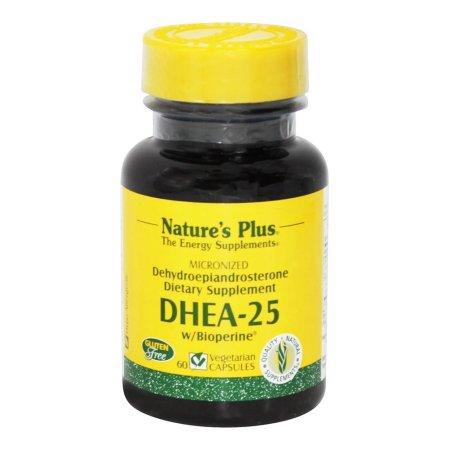 Natures Plus DHEA 25 con Bioperine 25mg 60 cápsulas